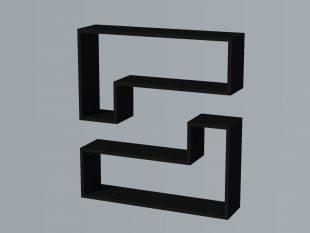 raft perete ozy negru 02