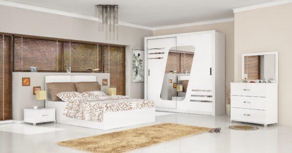 Dormitor Sila, Alb