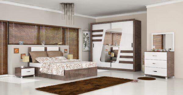 Dormitor Sila, nuc-alb