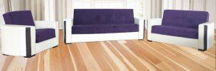 Set canapea extensibila si fotoliu Rio violet