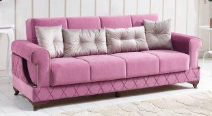 Canapea extensibila Prada, roz