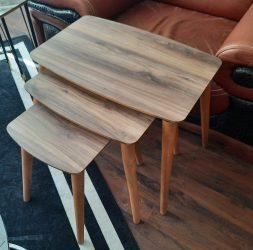 Set masute cu pıcoaere de lemn mdf stejar