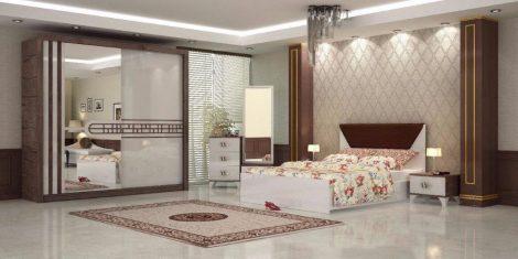 Dormitor Azra, nuc-alb