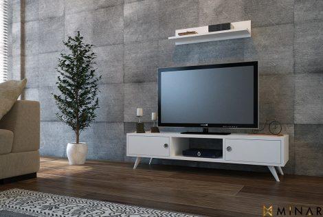 Comoda Tv Aspen Alb