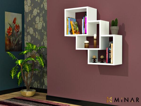 Raft de perete Tree Box Alb