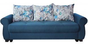 Canapea extensibila Eliza, albastra