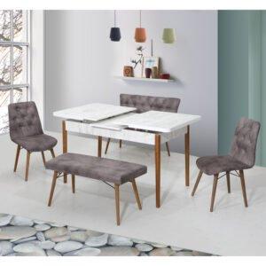 Set Masa Extensibila cu 4 scaune,Elt 02,masa ext.170x80cm