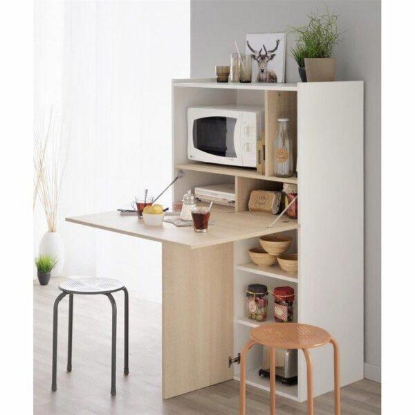 Dulap Multifunctional Full, alb-stejar Functionalitate si frumusete cu un dulap multifunctional Noul dulap multifunctional in culori de alb si lemn natur, este ideal