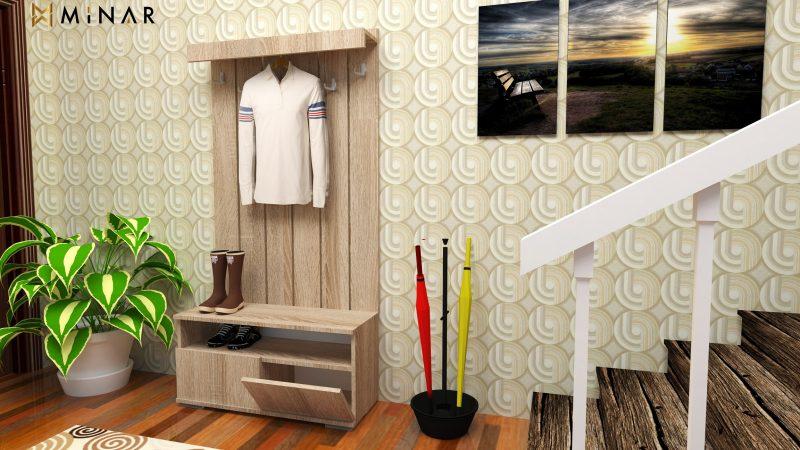 cuier din lemn - mobila hol