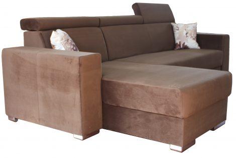 Coltar extensibil Matrix maro Textil, cu tetiere, 2740x1610 mm