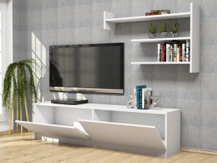 Tv unit alb