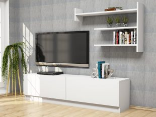 mART Tv unit alb 1600x336x400 mm,raft 936×614 mm