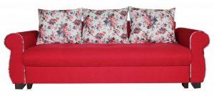 canapea extensibila Eliza rosie