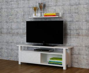 Comoda tv Loft, alb
