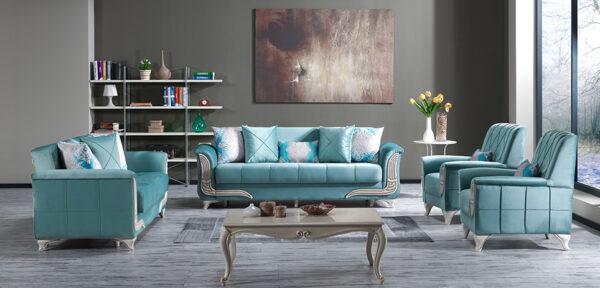 Set canapele Ilgaz 3+2+1 Blue