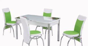 Set Masa Extensibila cu 4 scaune, Elt 83,verde,masa
