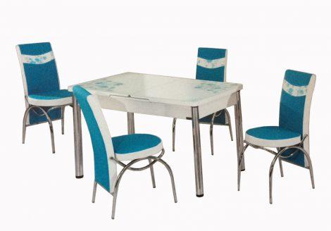 set masa cu scaune turcoaz