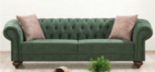 Chestefield canapea verde