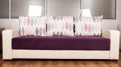 mobila pentru living canapea mov