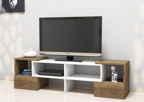 comoda TV nuc cu lemn alb