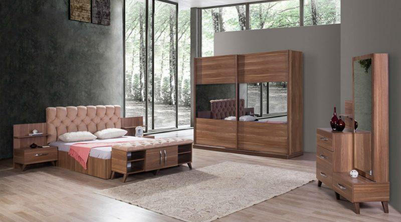 mobilier pentru dormitor maro