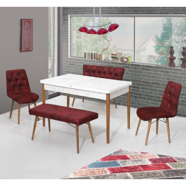 Set Masa Extensibila Elitgrena, cu scaune si 2 banchete