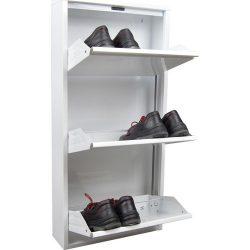 Pantofar 3 usi hkn alb metal este un dulap pentru pantofi realizat dinmetal de culoare alba. Atat culoarea, cat si designul il face usor de integrat in orice interior.