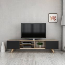 Comoda tv New Dore,nuc/negru, 160x 29.7x40.6 cm