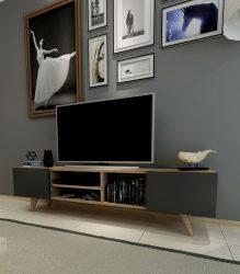 Comoda tv New Dore,nuc/negru, 160x 29.7×40.6 cm
