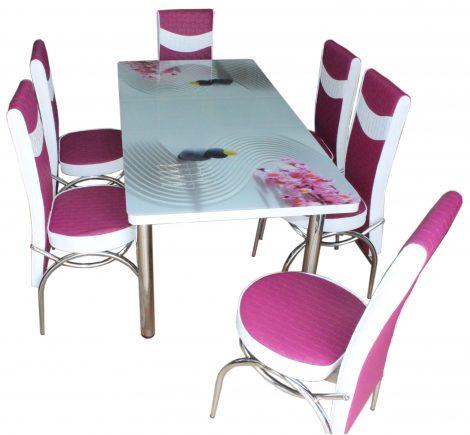 Set Masa Extensibila cu 4 scaune,3D roz,masa ext.170x80cm