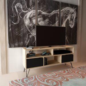 Comoda TV Mack stejar natur/negru