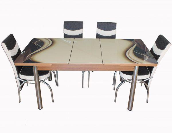set masa si scaune bej