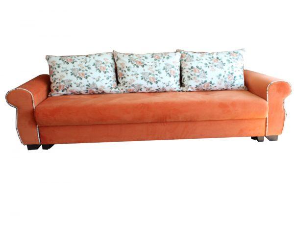 canapele extensibile portocalii