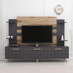Comoda TV Grace negru/nuc