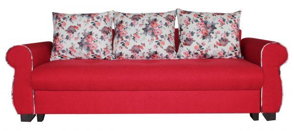 canapea extensibila rosie