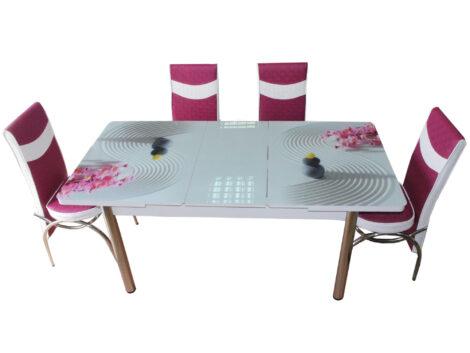 Set masa extensibila cu 6 scaune pentru bucatarie Hit Modella