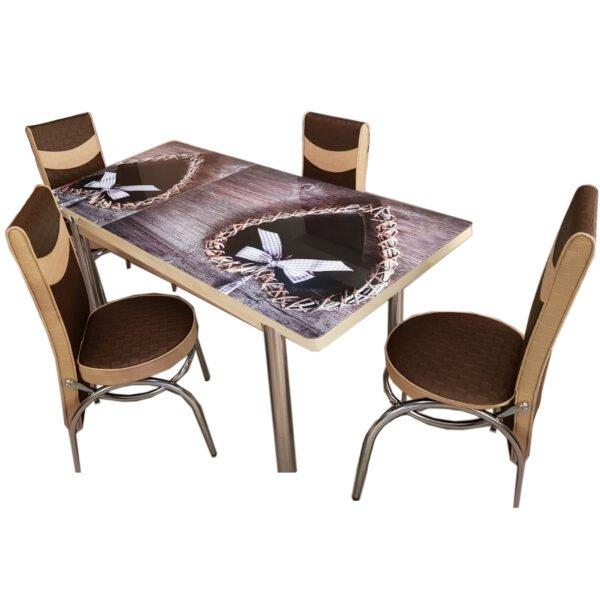 Set masa extensibila cu 6 scaune pentru bucatarie Country Love