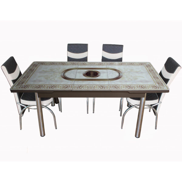 Set masa extensibila cu 6 scaune Modella MADELEON