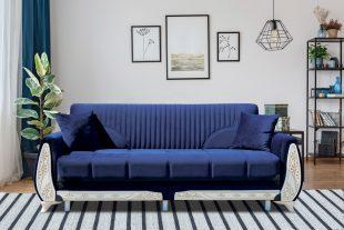 Canapea extensibila KAREN ALBASTRU