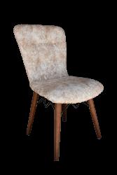 Set masa Elegant Marmura MDF picioare lemn + 4 scaune , 160x80x75 cm, blat de mdf, scaune material textil, cod produs E4