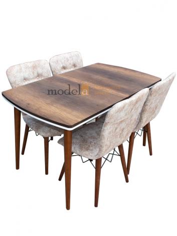 Set masa Elegant MDF picioare lemn