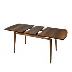 Set masa  Elegant MDF picioare lemn + 6 scaune , 160x80x75 cm, blat de mdf, scaune material textil, cod produs E1