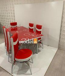 Set Masa extensibila cu 4 scaune BUBBLE pentru bucatarie