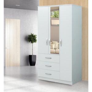 Dulap Meissa Modella cu 3 uși cu 3 sertare cu oglindă