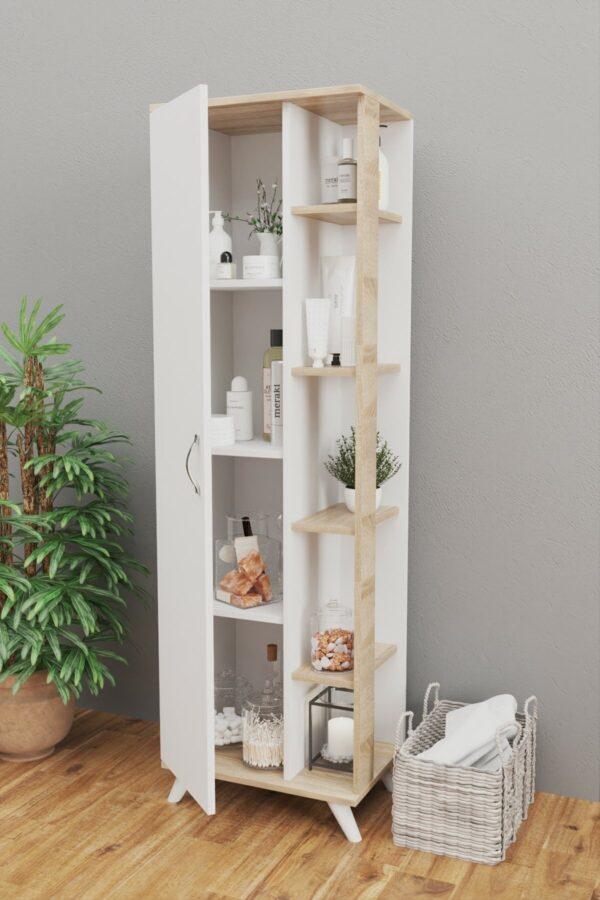 Dulap multifunctional, Mono, alb-stejar (3)