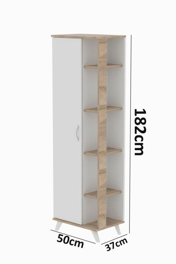 Dulap multifunctional, Mono, alb-stejar (4)