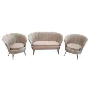 Set Canapea cu doua Fotolii pentru cafea Queen 2+1+1 Modela, cappucino