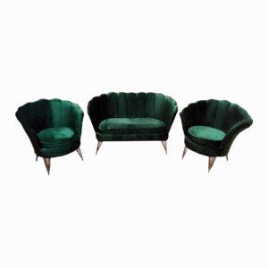Set Canapea cu doua Fotolii pentru cafea Queen 2+1+1 Modela, verde